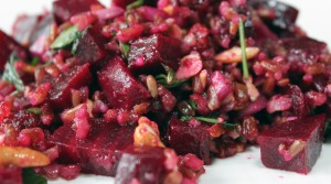 red rice beet salad